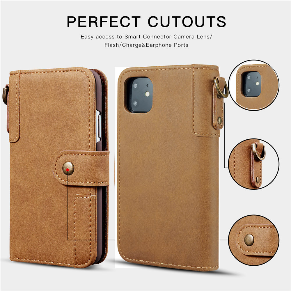 Image 3 - Luxury Magnetic Case for New iPhone 11 Pro Max 2019 XI RX XS MAX XR Leather Wallet Business Book Flip Stand Cover phone case-in Wallet Cases from Cellphones & Telecommunications