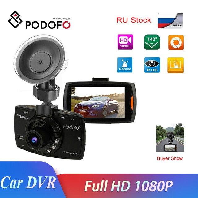 2019 Podofo A2 Car DVR Camera G30 Full HD 1080P 140 Degree Dashcam Video Registrars for Cars Night Vision G Sensor Dash Cam