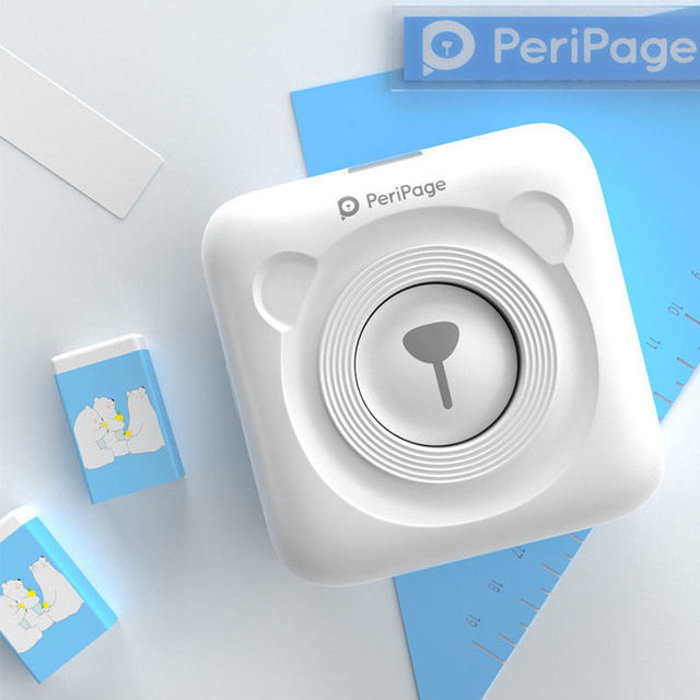 PeriPage Bluetooth impresora fotográfica térmica Mini portátil de bolsillo 58mm impresora portátil de etiqueta para iOS Android Windows teléfono móvil