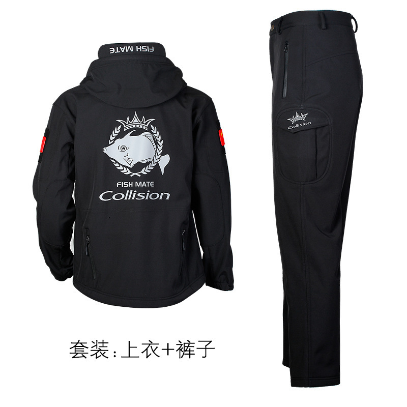 Men Warm Waterproof Fishing Clothing Set Breathable Wear-resisting Windbreak Fishing Jacket Pants Cold-proof Loose Coat Yc9801