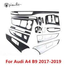 Motif en Fiber de carbone pour Audi A4 B9 A5 17-2019 accessoires accessoires intérieurs contrôle boîte de changement de vitesse sortie d'air panneau autocollant