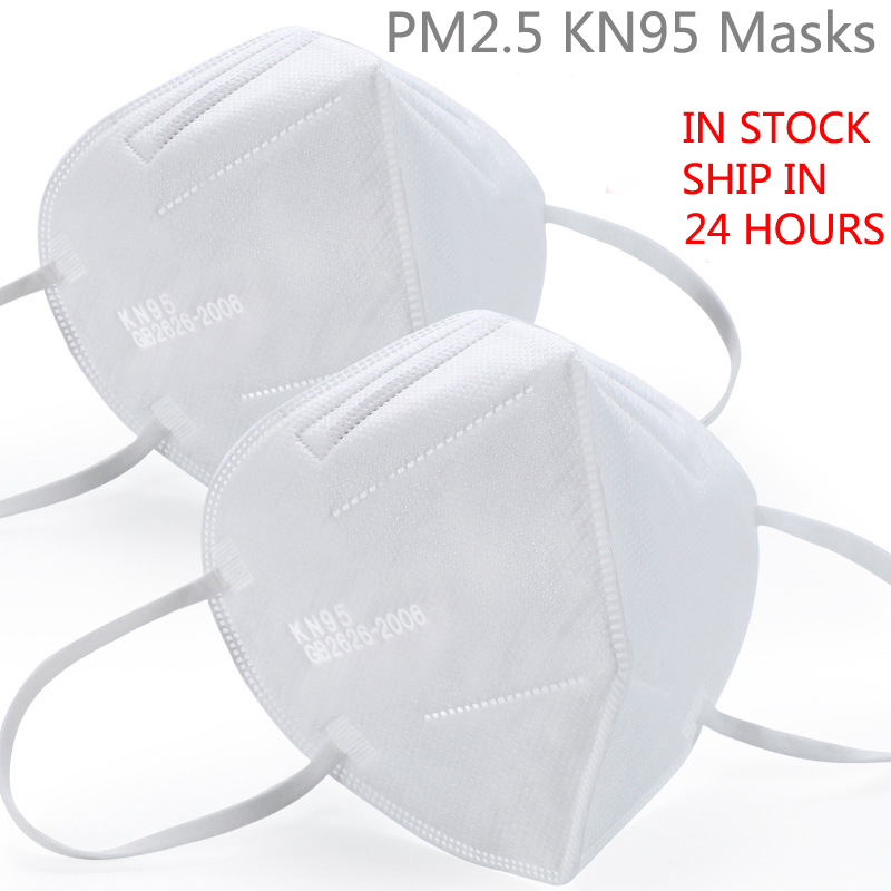 20 Pcs KN95 Mask Anti Virus Disposable Protective Mask Mouth Face Mask N95 KF94 FFP2 Level 98% Filtration Mouth Cover Dust Masks