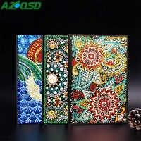 AZQSD Diamant Malerei Mosaik Notebook Spezielle Geformt Blume Mandala Muster A5 Tagebuch Buch Stickerei Geschenk DIY