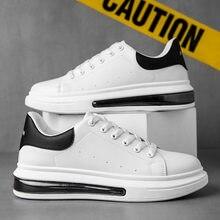 Spring 2021 new men's little white shoes McQueen with breathable platform platform shoe fashion air cushion men's shoes