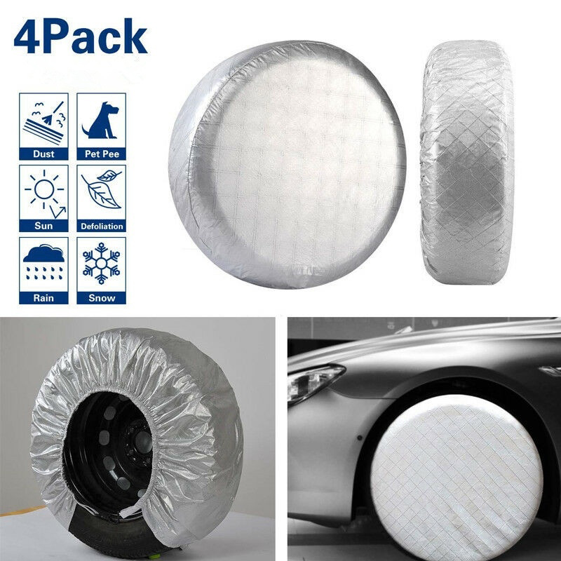 Vehemo 4pcs Wheel Tire Cover Wheels Universal RV Dustproof Waterproof for Car SUV