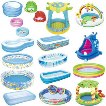 Baby Swimming Pool Inflatable Bath Tub Round Lovely Animal Printed Bottom Child Summer Play Ball Pool Kid Water Toy