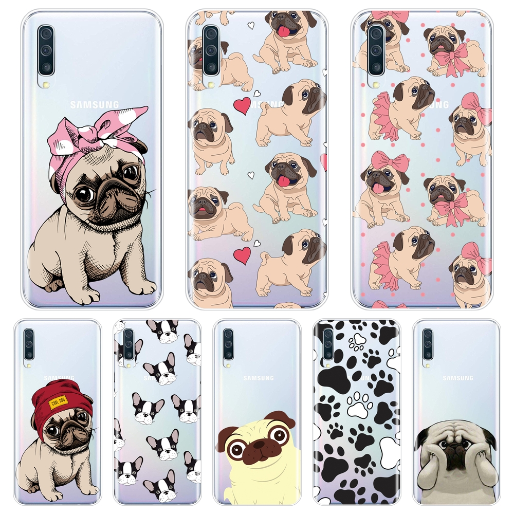Pug French Bulldog Back Cover For <font><b>Samsung</b></font> <font><b>Galaxy</b></font> <font><b>A40</b></font> A30 A20 A10 <font><b>Phone</b></font> <font><b>Case</b></font> Silicone For <font><b>Samsung</b></font> <font><b>Galaxy</b></font> A50 A60 A70 A80 Edge image