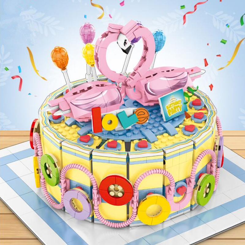 Remarkable Creative Marriage Cake Building Blocks Brick Racing Car Birthday Funny Birthday Cards Online Fluifree Goldxyz