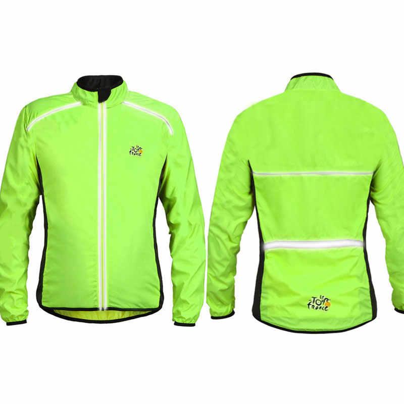 2019 Reflecterende Fietsen Jas Vissen Shirts Wandelen Jas Waterdicht Ademend Windjack Fiets Jassen Sport Jas