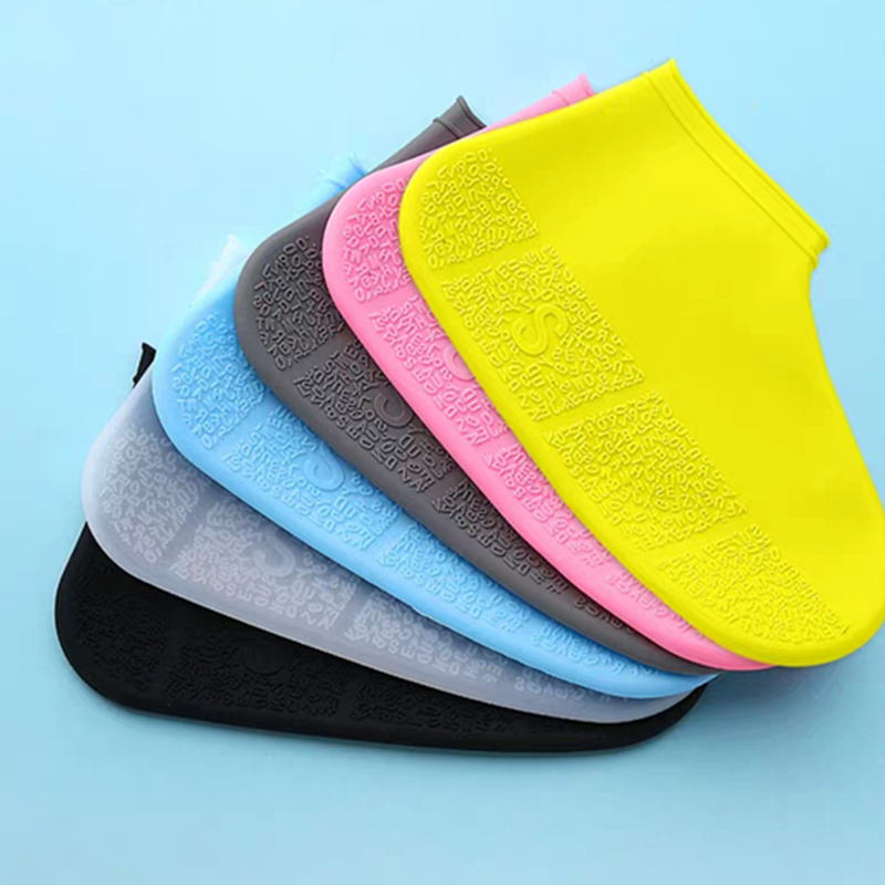 Waterproof Shoe Covers Cycling Rain Reusable Overshoes Letter Silicone Elastic Shoe Covers Protect Shoes Accessories Dust Covers