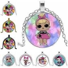 HOT! 2019 Cartoon Girl Necklace Fashion Anime Peripheral Glass Bulge Pendant Glamour Jewelry