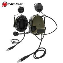 TAC-SKY PELTOR COMTAC III Silicone Earmuffs Double Pass Edition Helmet Holder Noise Reduction Military Tactical Headphones FG