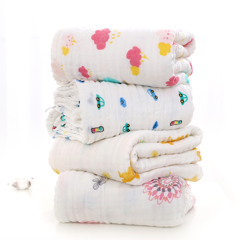 Six-layer Gauze Without Fluorescent Agent Baby Bath Towel Baby Bedding Baby Bag Towel Cart Blanket