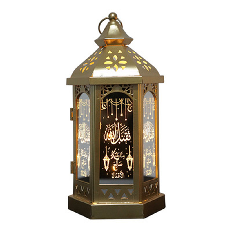 LED Stereo Palace Lamp Eid Mubarak Decor String Lights Ramadan Kareem Decoration For Home Muslim Islam Festival Party Supplies