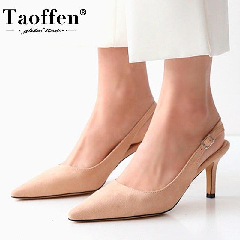 Taoffen 6 Colors Women High Heel Sandals Party Sexy Shoes Women Summer Sandals Office Ladies Footwear Size 33-41