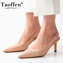Taoffen 6 Colors Women High Heel Sandals Party Sexy Shoes Women Summer Sandals Office Ladies Footwear Size 33-41
