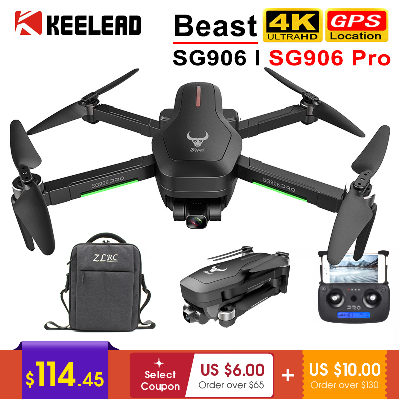 Drone SG906 / SG906 Pro with GPS 4K 5G WIFI 2-axis gimbal Dual camera professional ESC 50X Zoom Brushless Quadcopter RC Dron(China)