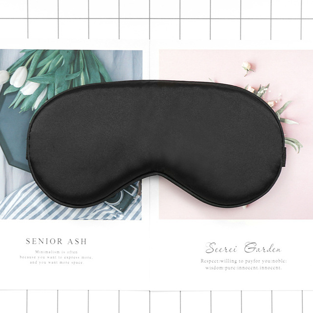 1pcs Eye Cover Silk Sleep Eye Mask Sleeping Padded Shade Patch Eyemask Blindfolds Women Men Travel Relax Rest 5