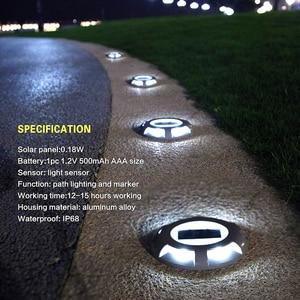 Image 3 - Led alüminyum güneş yol çim ışıklar su geçirmez Led güneş lambaları açık için güneş enerjisi ışık sağlam yol Driveway yol Plaza