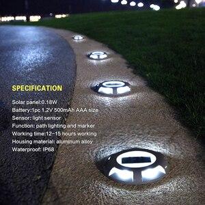 Image 3 - Đèn Led Nhôm Năng Lượng Mặt Trời Đường Bãi Cỏ Đèn Led Chống Thấm Nước Năng Lượng Mặt Trời Đèn Ngoài Trời Năng Lượng Mặt Trời Ánh Sáng Cho Chắc Chắn Đường Driveway Con Đường Plaza