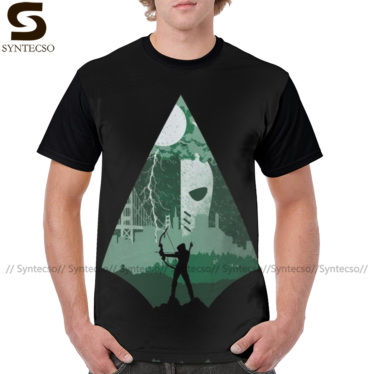 Green Arrow T Shirt Arrow Deathstroke T-Shirt XXX Short-Sleeve Tee Shirt Printed Male Polyester Graphic Tshirt