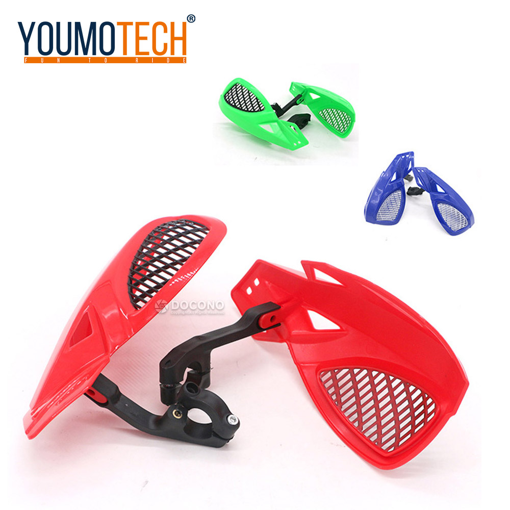 01 Universal Motorcycle Handguards 7//8 22mm Handle Protector Shield Motorbike Motocross Scooter Windproof Handlebar Hand Guards Protection Gear