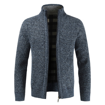 Autumn and winter 2019 new foreign trade mens sweater Plush coat thickened loose large