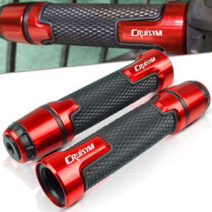 """Image 1 - 7/8"""" 22MM Motorcycle handlebar handles grips ends For SYM CRUISYM 150 180 300 GTS300 GTS 300i 2016 2017 2018 Moto handle grips"""