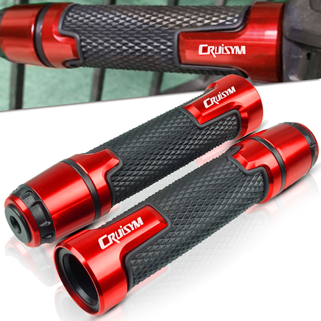 """7/8"""" 22MM Motorcycle handlebar handles grips ends For SYM CRUISYM 150 180 300 GTS300 GTS 300i 2016 2017 2018 Moto handle grips"""
