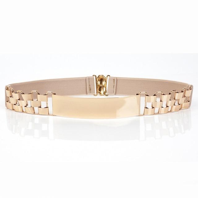 Fashion Luxury Gold Belt Women s Accessories Women s Belt Metallic Sequin Skirt Elastic Golden Dress Girdle PD07
