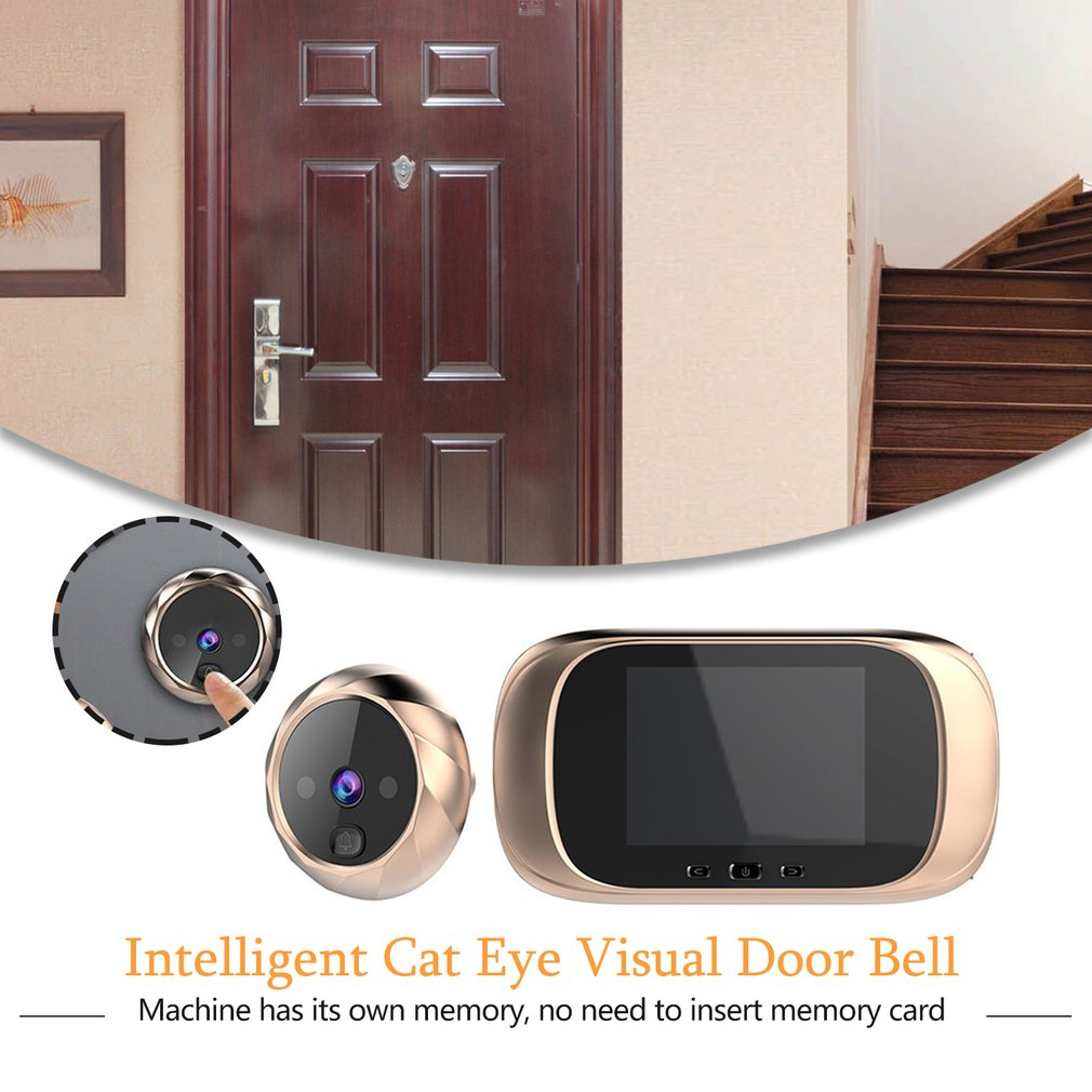 Купить с кэшбэком HD Door Viewer Long Standby Video 2.8inch Intercom Infrared Motion Sensor Night Vision Camera Door Bell Home Security Camera