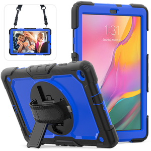 Image 4 - 360 Rotating Case for Samsung Galaxy Tab A 10.1 2019 T510 T515 SM T510 SM 515 Tablet Cover with Hand Shoulder Strap +pen + Film