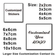 100pcs custom stickers and LOGO wedding design personalized label 3cm-10cm birthday/invitation/gift box stickers/photos