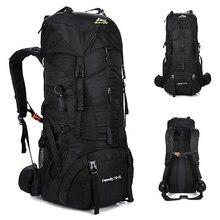 цена на Large Capacity 75L Outdoor Backpack Travel Men Multi-purpose Climbing Backpacks Hiking Rucksacks Camping Waterproof Sports Bag