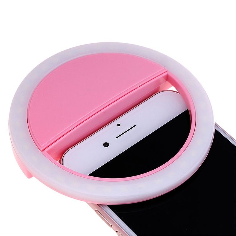 Selfie Portable LED Ring Light Lamp Clip Camera Photography for Smart Cell Phone Fill Lights image