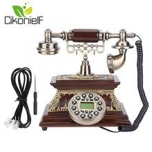 Cikonielf Миниатюрная модель телефона Настольный Ретро винтажный ID телефон с дисплеем FSK/DTMF для украшения дома, офиса, отеля