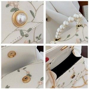 Image 5 - Bolso cruzado de cuero con perlas para mujer, bandolera pequeña de diseñador, de mano, de hombro, 2020