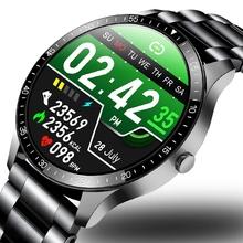 LIGE 2020 moda w pełni okrągłe ekran dotykowy mężczyzna inteligentne zegarki IP68 wodoodporna Fitness sportowy zegarek luksusowy zegarek inteligentny zegarek dla mężczyzn tanie tanio CN (pochodzenie) Brak Na nadgarstku Wszystko kompatybilny 128 MB Passometer Fitness tracker Uśpienia tracker Wiadomość przypomnienie