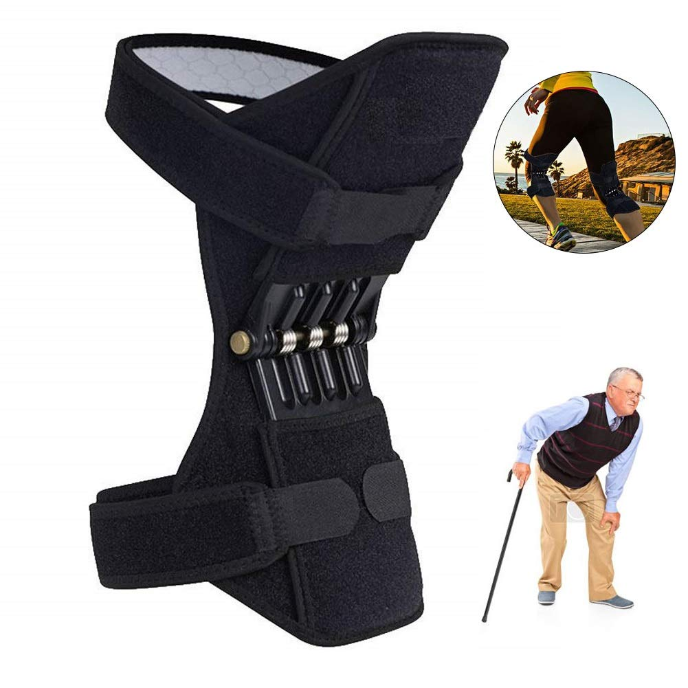 Breathable Non-slip Joint Support Knee Pads Lift Knee Pads Gift Box Care Powerful Rebound Spring Force Knee Booster Sport