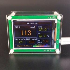 Laser 2019 pms5003 g5 pm2.5 pm1.0 pm10 detector temperatura de umidade fumaça da qualidade do ar