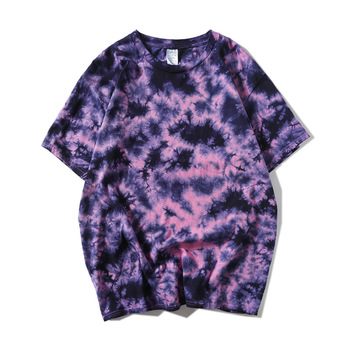 2018 Origional National Trends New Style Harajuku Cool Casual Hippie Tie-dye Loose Short Sleeve T-shirt Hip Hop Men And Women Su
