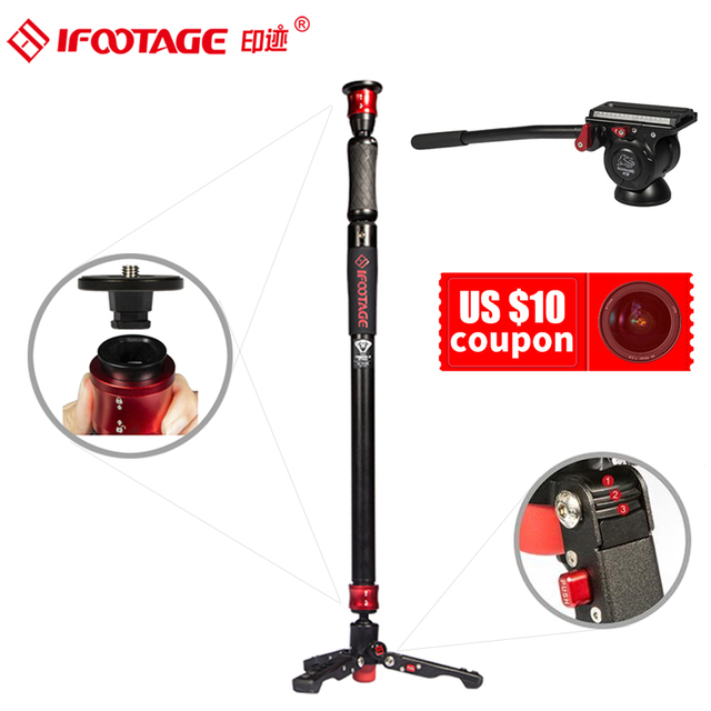DIGITALFOTO – caméra vidéo DSLR professionnelle COBRA 2 STRIKE A150S, monopode en alliage daluminium, Portable, léger et Durable
