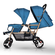 2 in 1 Bugab yoya twins  portable  folding baby strollers front and rear add long add wide stroller