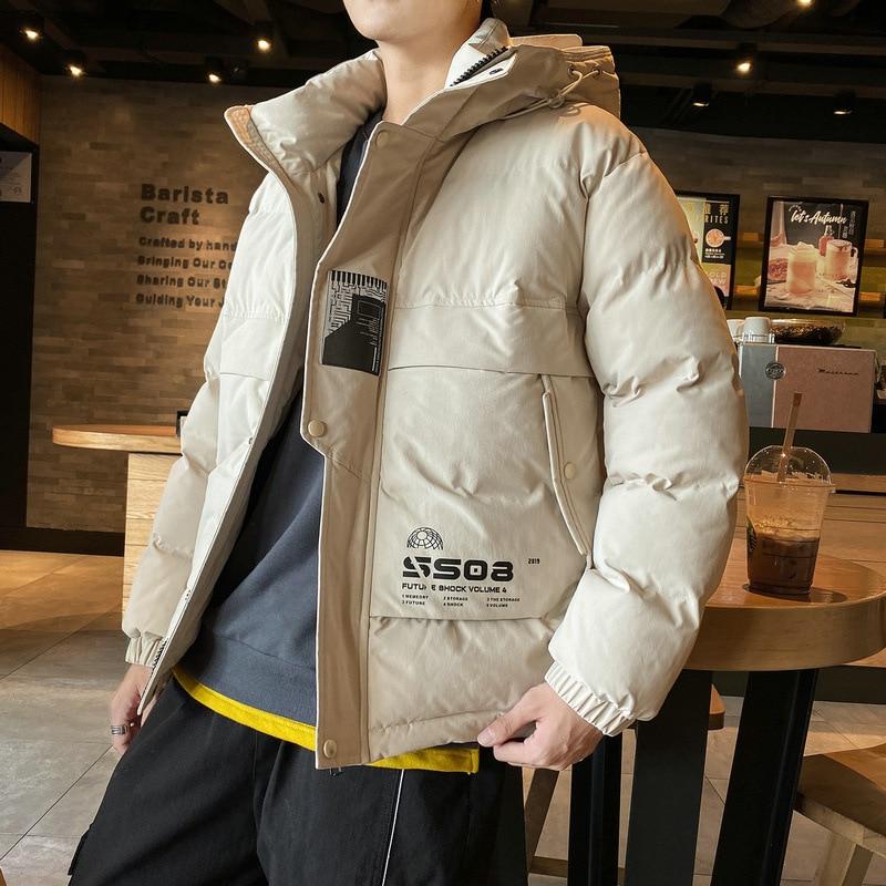Для мужчин, пальто куртка с хлопковой подкладкой новый стиль в зимний период|Парки| | АлиЭкспресс
