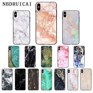 NBDRUICAI Granite Stone Marble Texture High Quality Phone Case for iPhone 11 pro XS MAX 8 7 6 6S Plus X 5 5S SE XR case(China)