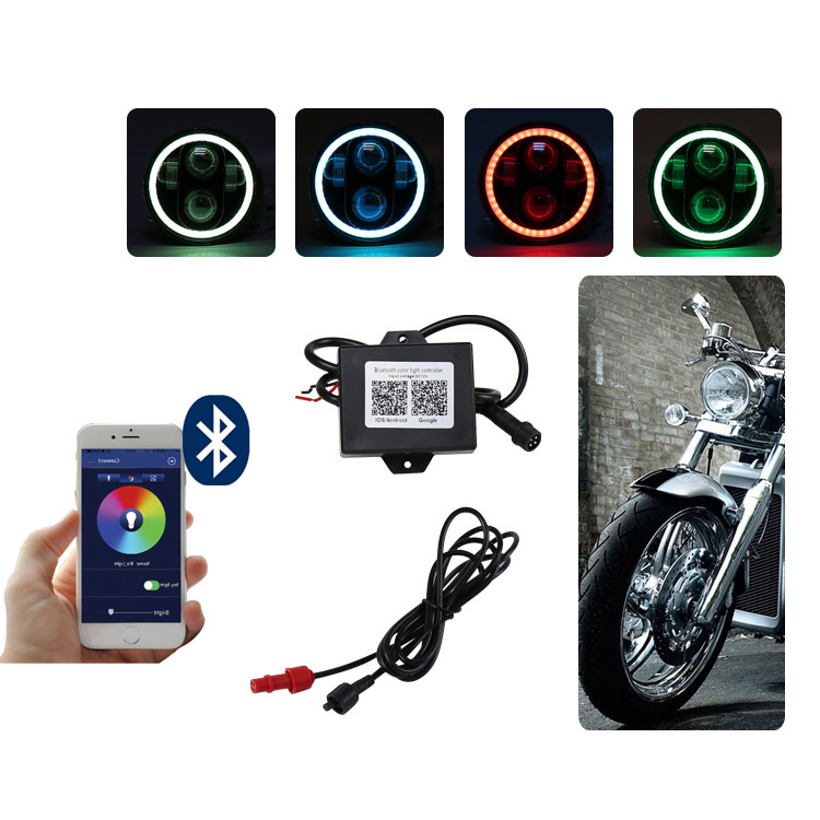 Cross-border Hot Style RGB Harley Motorcycle Lamp 5.75 -inch Headlights Circular Davidson Led Lights