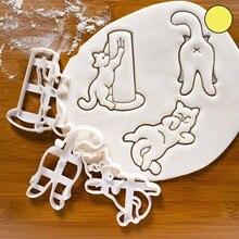 Emporte-pièce à cookies, 25 #, chat heureux mignon, Asss, langue du corps, comportement, moule à biscuits, outil de cuisine, accessoires pour gâteaux