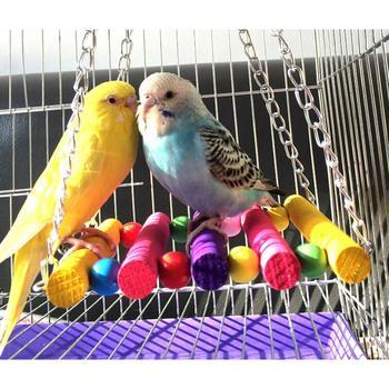 Gorąca sprzedaż zwierzęta ptak zabawki dla papug papuga Budgie Cockatiel klatka hamak zabawkowa huśtawka wiszące gryzaki dla ptaków Drop Ship tanie i dobre opinie Let's Pet CN (pochodzenie) Drewna