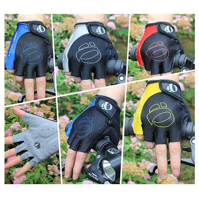 Homens luvas de ciclismo bicicleta esportes metade do dedo luvas anti-deslizamento gel almofada da motocicleta mtb estrada luvas S-XL nova chegada 3