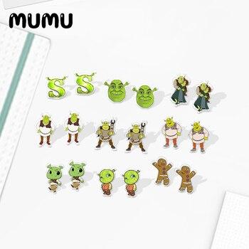 2020 New Shrek Stud Earring Cartoon Acrylic Epoxy Resin Handcraft Jewelry Fashion Earrings - discount item  35% OFF Fashion Jewelry
